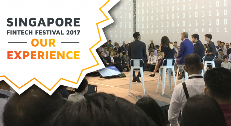 One of the stages of the Singapore Fintech Festival 2017.