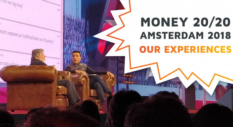 Steve Wozniak and Nuno Sebastiao talking on-stage during the Money20/20 Europe 2018 Conference