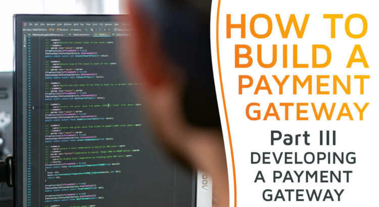 A software developer working on coding a payment gateway